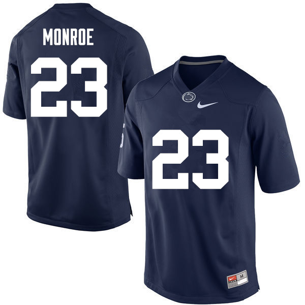 Men Penn State Nittany Lions #23 Ayron Monroe College Football Jerseys-Navy