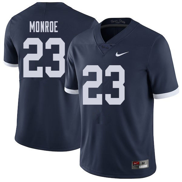 Men #23 Ayron Monroe Penn State Nittany Lions College Throwback Football Jerseys Sale-Navy