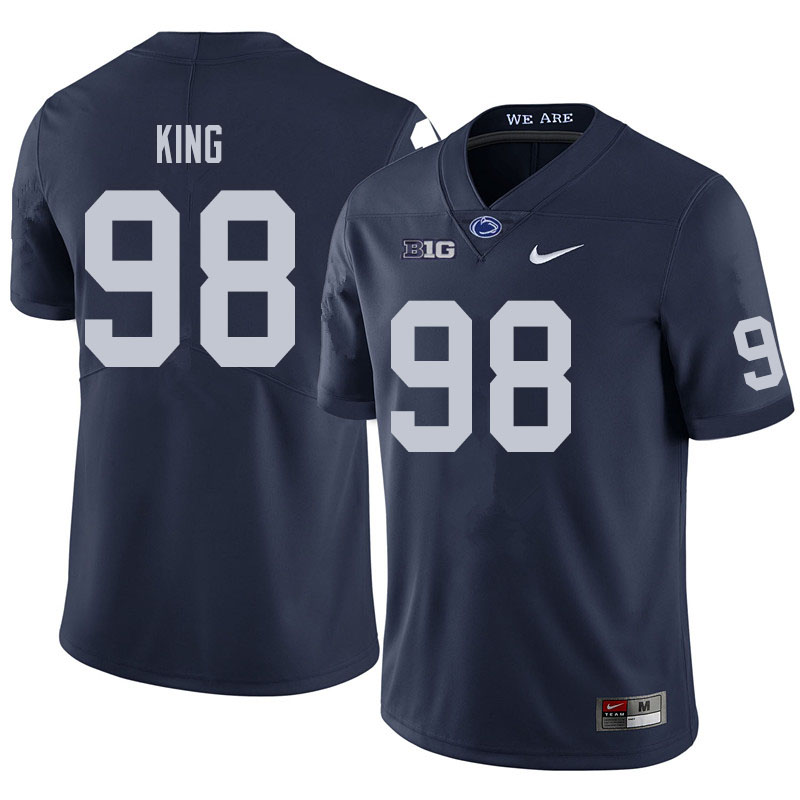 Men #98 Bradley King Penn State Nittany Lions College Football Jerseys Sale-Navy