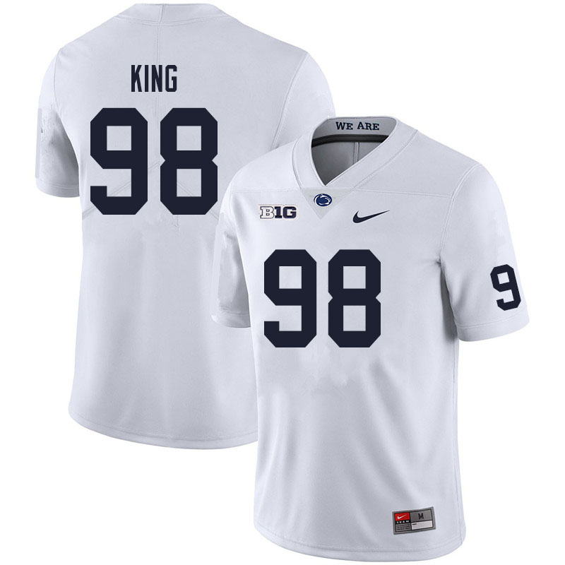 Men #98 Bradley King Penn State Nittany Lions College Football Jerseys Sale-White