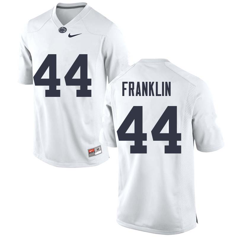 Men #44 Brailyn Franklin Penn State Nittany Lions College Football Jerseys Sale-White