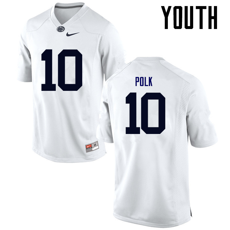 Youth Penn State Nittany Lions #10 Brandon Polk College Football Jerseys-White