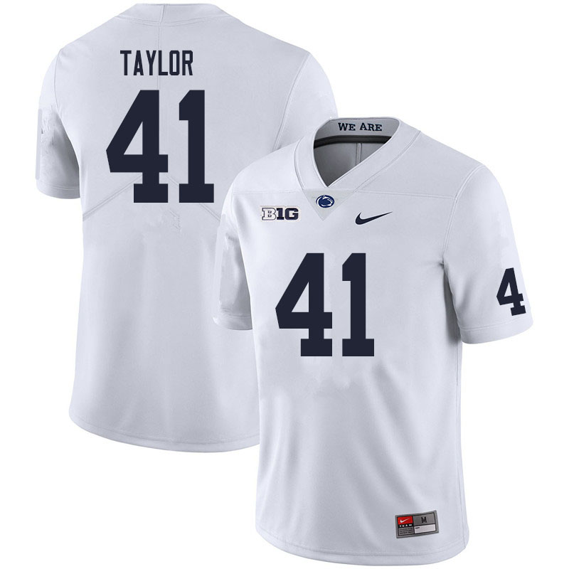 Men #41 Brandon Taylor Penn State Nittany Lions College Football Jerseys Sale-White