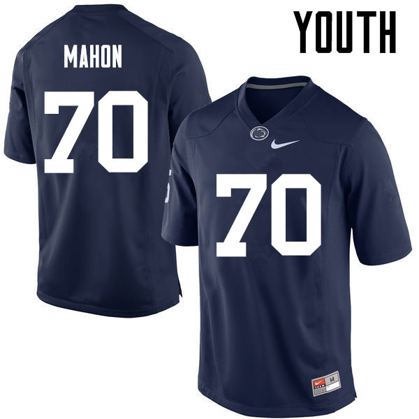 Youth Penn State Nittany Lions #70 Brendan Mahon College Football Jerseys-Navy