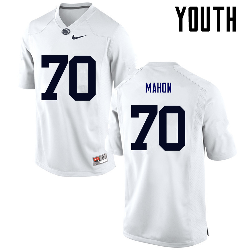 Youth Penn State Nittany Lions #70 Brendan Mahon College Football Jerseys-White