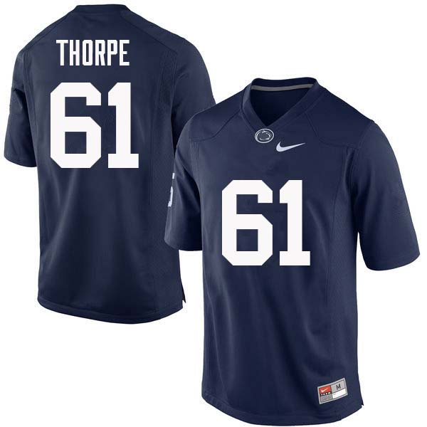 Men #61 C.J. Thorpe Penn State Nittany Lions College Football Jerseys Sale-Navy