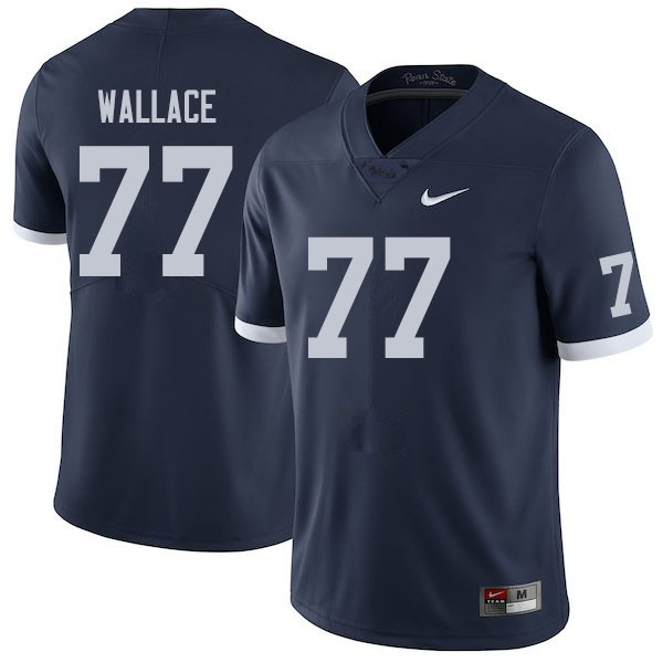 Men #79 Caedan Wallace Penn State Nittany Lions College Football Jerseys Sale-Retro