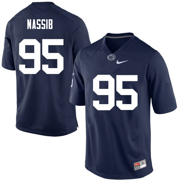 Men Penn State Nittany Lions #95 Carl Nassib College Football Jerseys-Navy