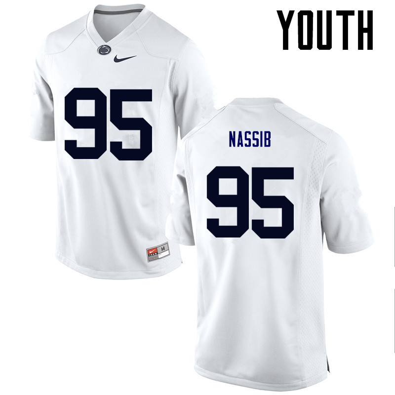 Youth Penn State Nittany Lions #95 Carl Nassib College Football Jerseys-White