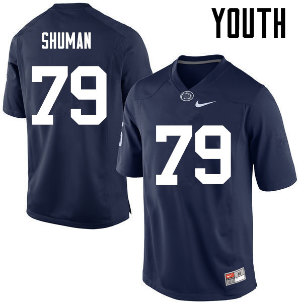 Youth Penn State Nittany Lions #79 Charlie Shuman College Football Jerseys-Navy