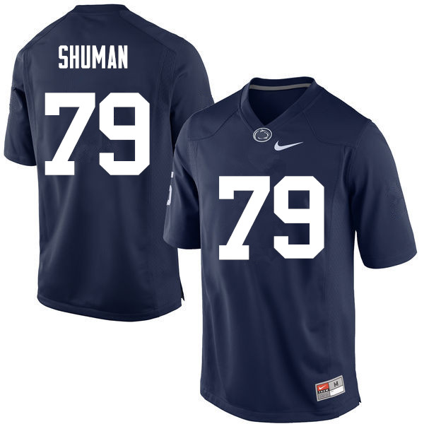 Men Penn State Nittany Lions #79 Charlie Shuman College Football Jerseys-Navy