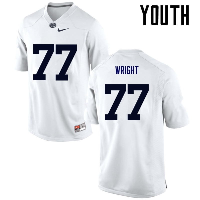 Youth Penn State Nittany Lions #77 Chasz Wright College Football Jerseys-White