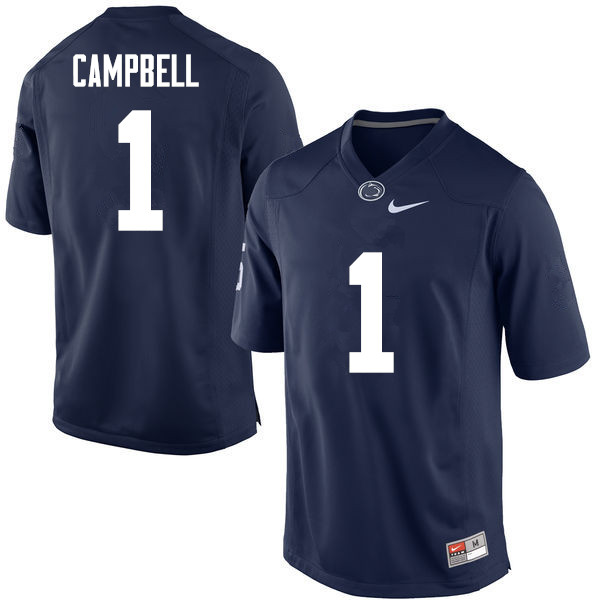 Men Penn State Nittany Lions #1 Christian Campbell College Football Jerseys-Navy