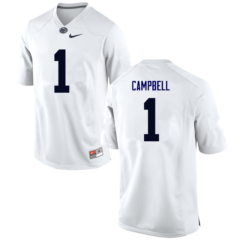 Men Penn State Nittany Lions #1 Christian Campbell College Football Jerseys-White