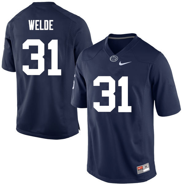 Men Penn State Nittany Lions #31 Christopher Welde College Football Jerseys-Navy