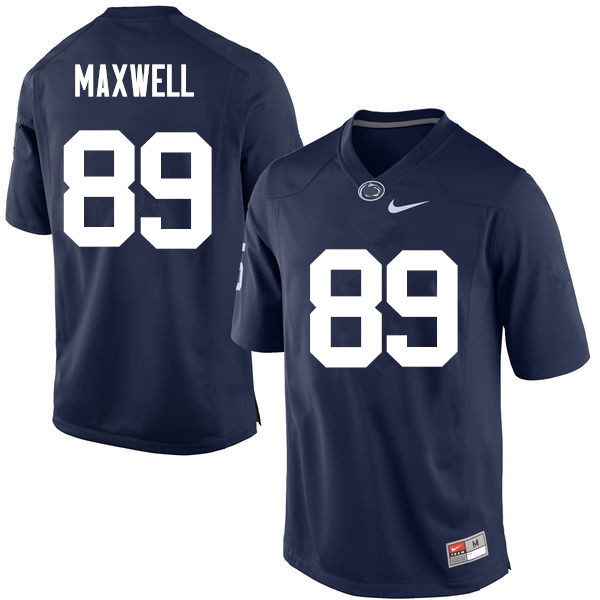 Men Penn State Nittany Lions #89 Colton Maxwell College Football Jerseys-Navy