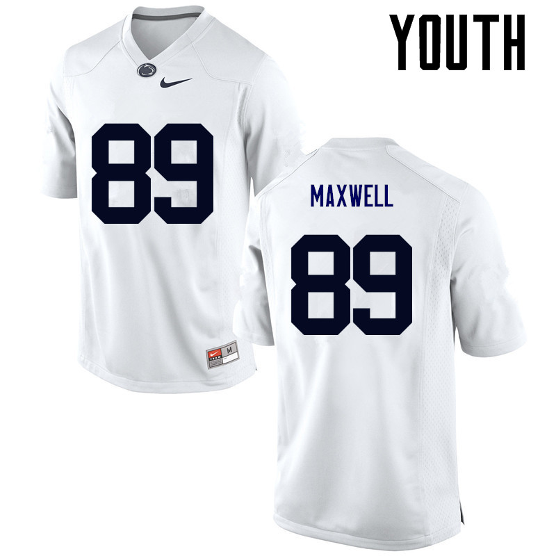 Youth Penn State Nittany Lions #89 Colton Maxwell College Football Jerseys-White