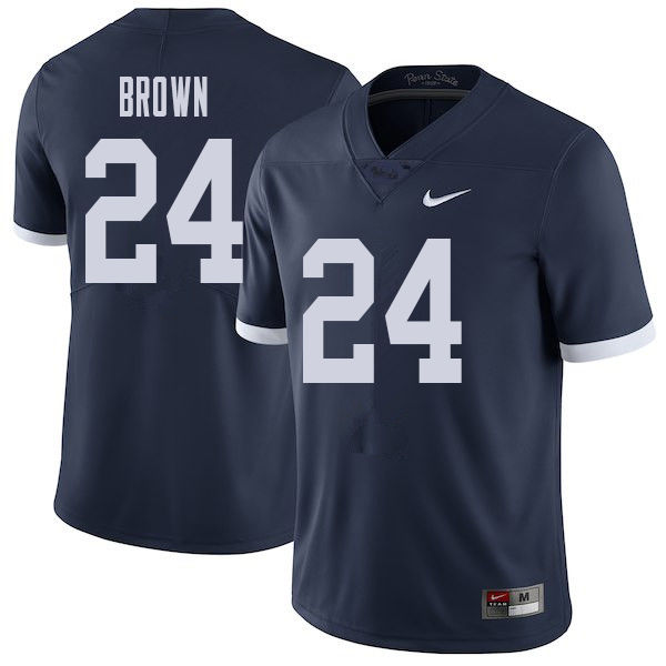 Men #24 D.J. Brown Penn State Nittany Lions College Throwback Football Jerseys Sale-Navy
