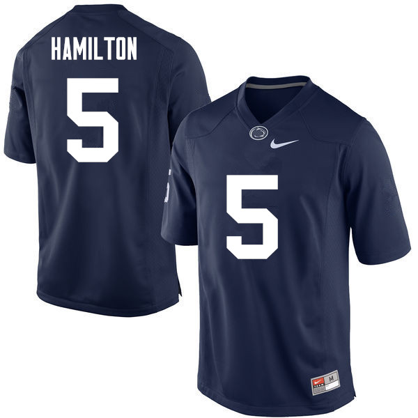 Men Penn State Nittany Lions #5 DaeSean Hamilton College Football Jerseys-Navy