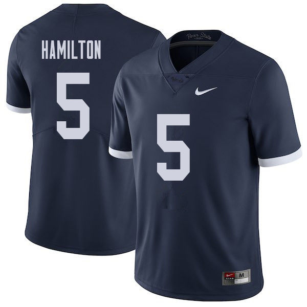 Men #5 DaeSean Hamilton Penn State Nittany Lions College Throwback Football Jerseys Sale-Navy