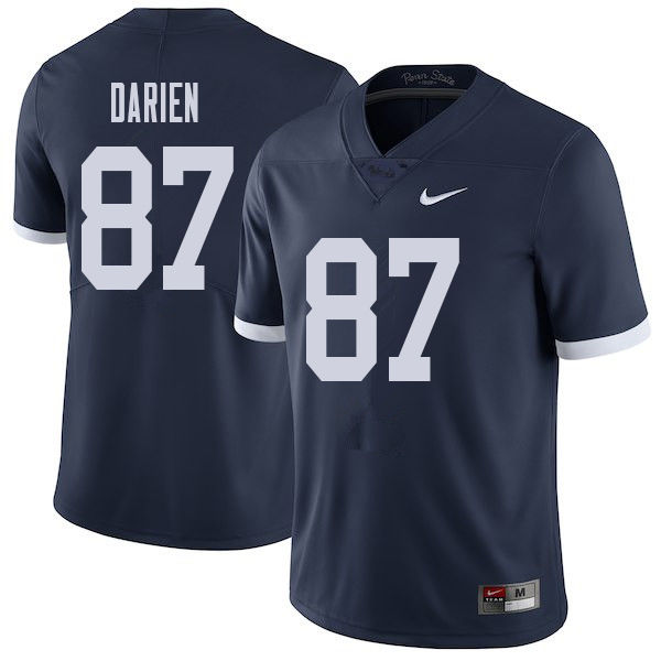 Men #87 Dae'lun Darien Penn State Nittany Lions College Throwback Football Jerseys Sale-Navy