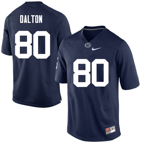 Men Penn State Nittany Lions #80 Danny Dalton College Football Jerseys-Navy