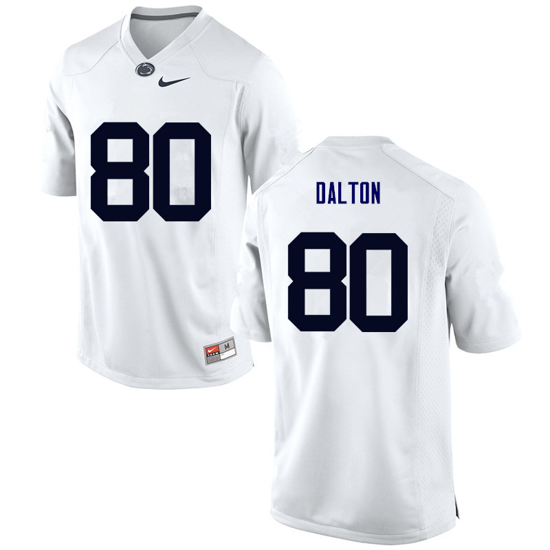 Men Penn State Nittany Lions #80 Danny Dalton College Football Jerseys-White