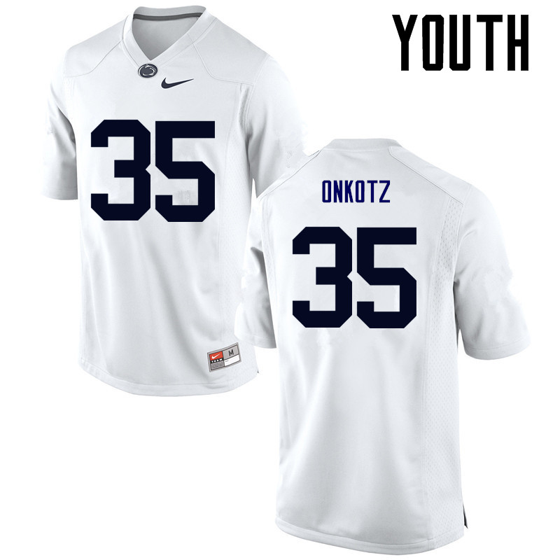 Youth Penn State Nittany Lions #35 Dennis Onkotz College Football Jerseys-White