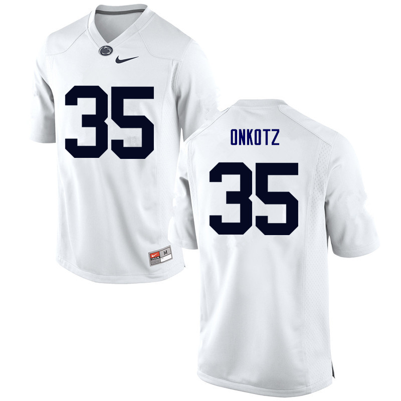 Men Penn State Nittany Lions #35 Dennis Onkotz College Football Jerseys-White