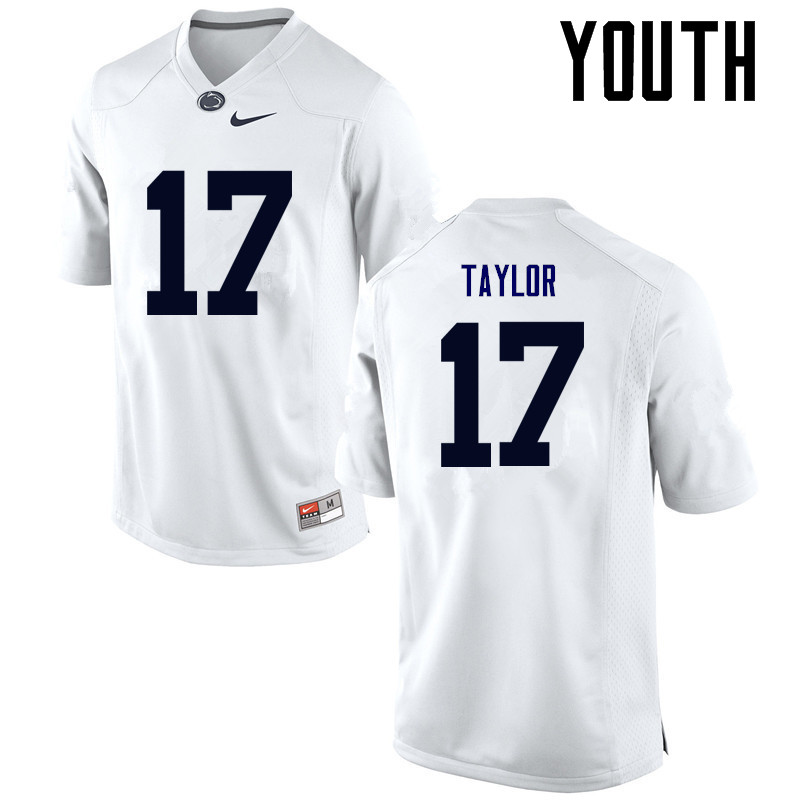 Youth Penn State Nittany Lions #17 Garrett Taylor College Football Jerseys-White