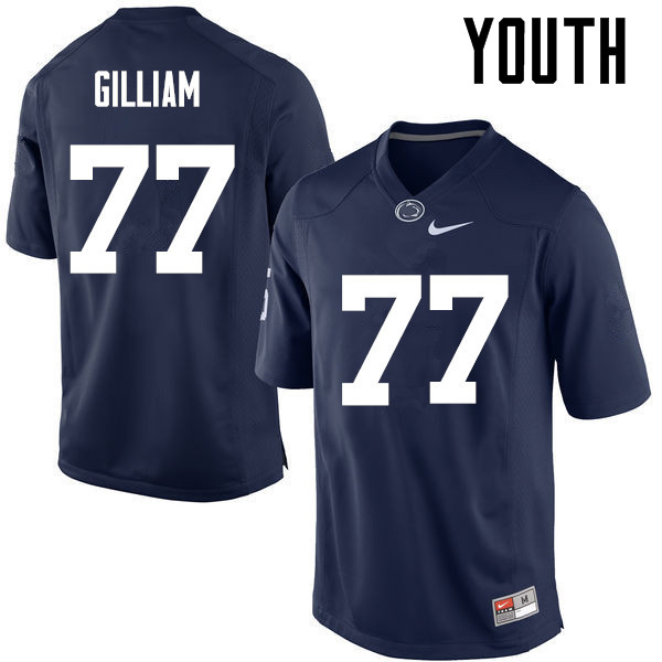 Youth Penn State Nittany Lions #77 Garry Gilliam College Football Jerseys-Navy