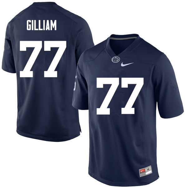 Men Penn State Nittany Lions #77 Garry Gilliam College Football Jerseys-Navy