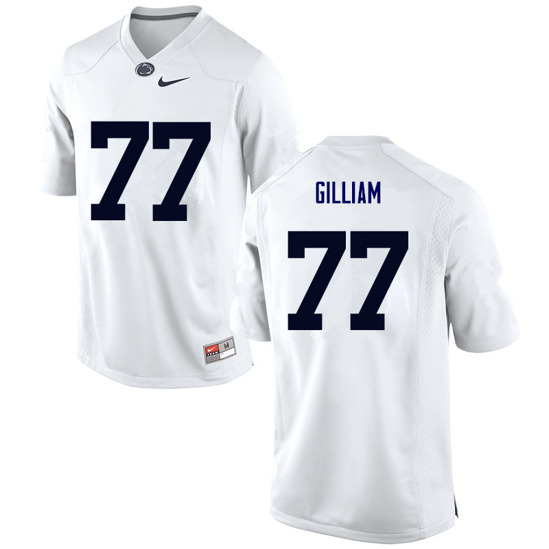 Men Penn State Nittany Lions #77 Garry Gilliam College Football Jerseys-White