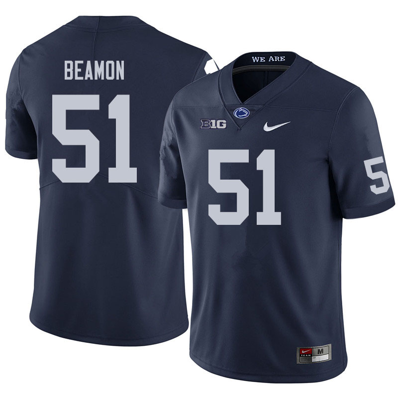 Men #51 Hakeem Beamon Penn State Nittany Lions College Football Jerseys Sale-Navy