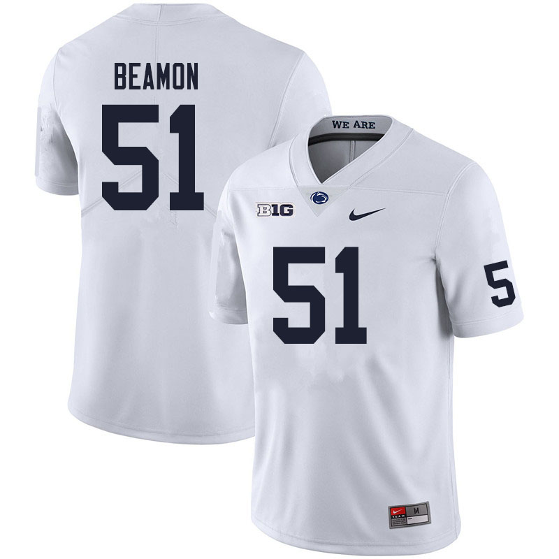 Men #51 Hakeem Beamon Penn State Nittany Lions College Football Jerseys Sale-White