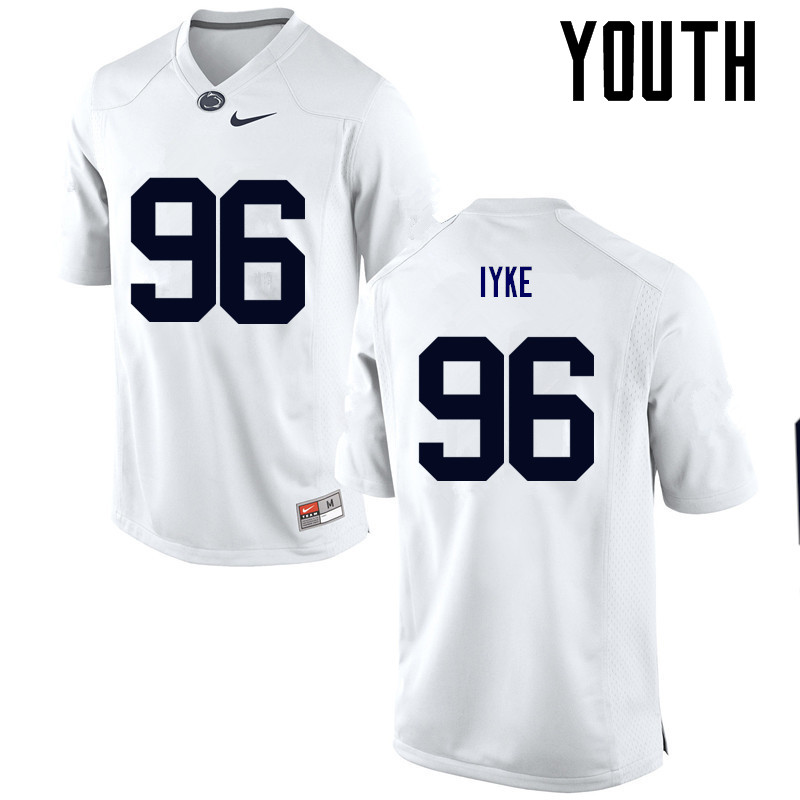 Youth Penn State Nittany Lions #96 Immanuel Iyke College Football Jerseys-White