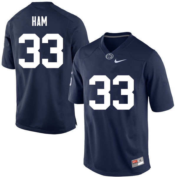 Men Penn State Nittany Lions #33 Jack Ham College Football Jerseys-Navy