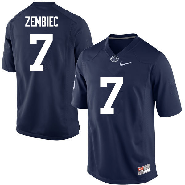 Men Penn State Nittany Lions #7 Jake Zembiec College Football Jerseys-Navy