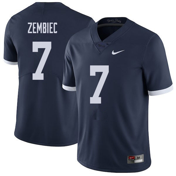 Men #7 Jake Zembiec Penn State Nittany Lions College Throwback Football Jerseys Sale-Navy