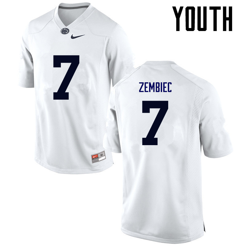 Youth Penn State Nittany Lions #7 Jake Zembiec College Football Jerseys-White