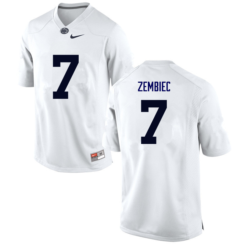 Men Penn State Nittany Lions #7 Jake Zembiec College Football Jerseys-White