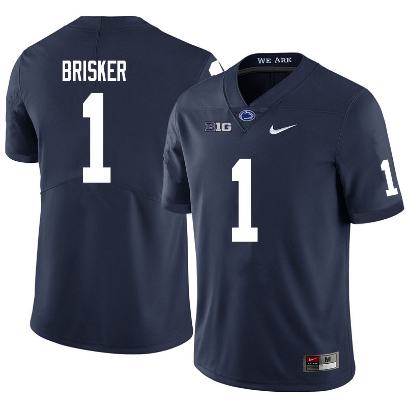 Men #1 Jaquan Brisker Penn State Nittany Lions College Football Jerseys Sale-Navy
