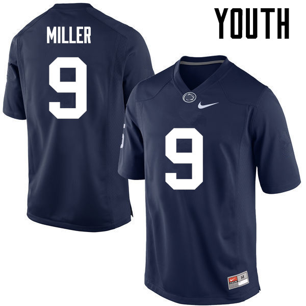 Youth Penn State Nittany Lions #9 Jarvis Miller College Football Jerseys-Navy