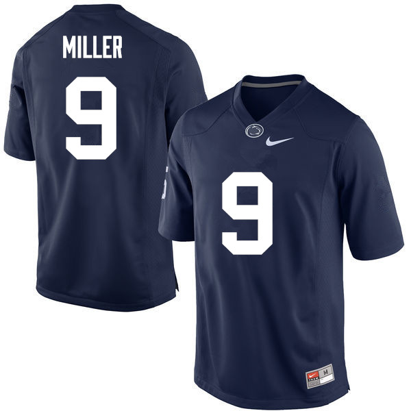 Men Penn State Nittany Lions #9 Jarvis Miller College Football Jerseys-Navy
