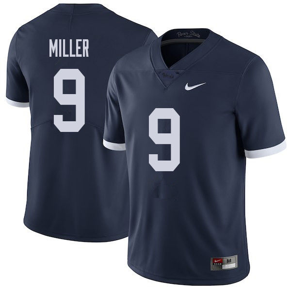 Men #9 Jarvis Miller Penn State Nittany Lions College Throwback Football Jerseys Sale-Navy