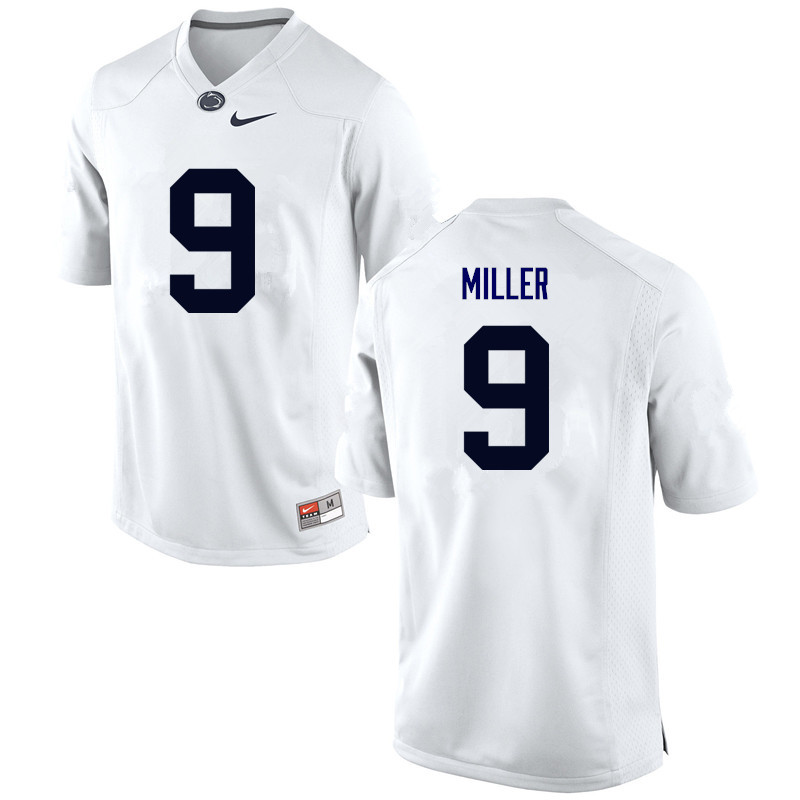 Men Penn State Nittany Lions #9 Jarvis Miller College Football Jerseys-White