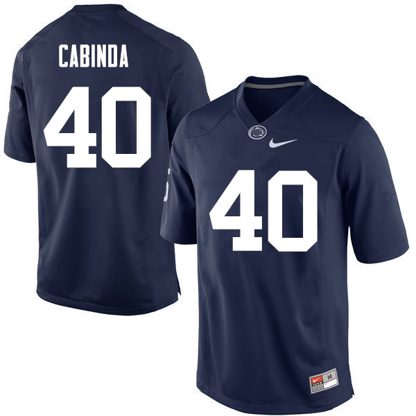 Men Penn State Nittany Lions #40 Jason Cabinda College Football Jerseys-Navy