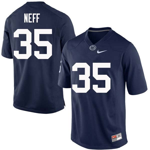 Men #35 Jestri Neff Penn State Nittany Lions College Football Jerseys Sale-Navy