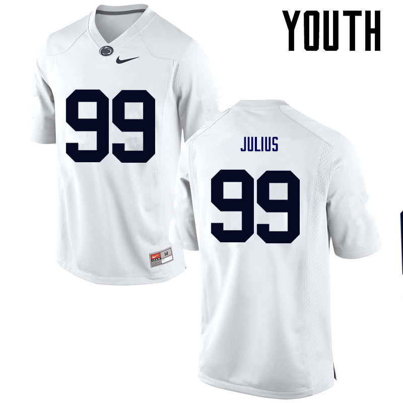 Youth Penn State Nittany Lions #99 Joey Julius College Football Jerseys-White
