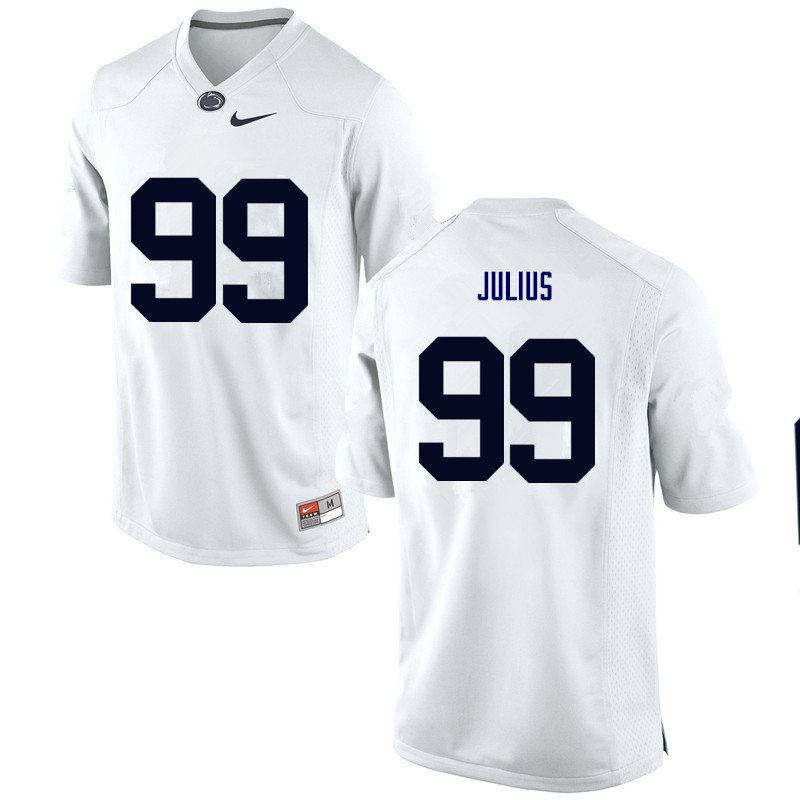 Men Penn State Nittany Lions #99 Joey Julius College Football Jerseys-White